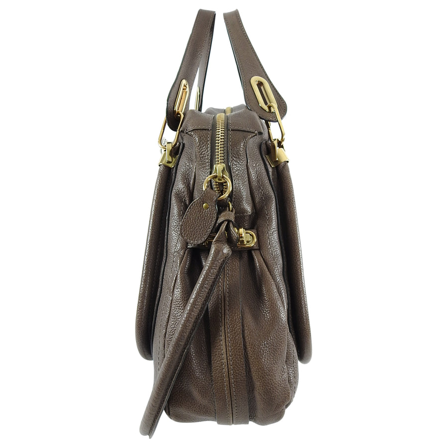 Chloe Brown Large Paraty Satchel Bag