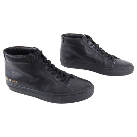 Woman by Common Projects Black Achilles Mid Sneakers - 36
