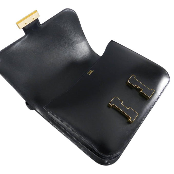 Hermes Limited Edition Constance Cartable Black Box Leather with Gold Hardware