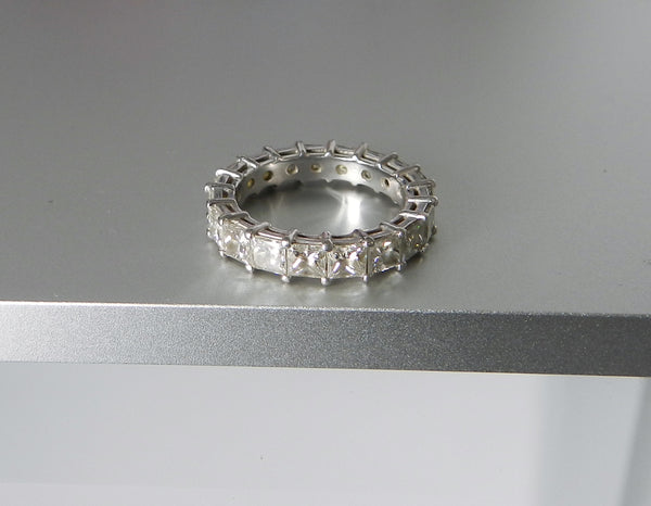 Custom Platinum Diamond Eternity Band Ring