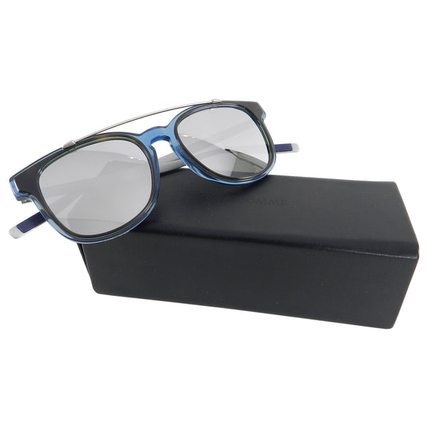 Dior Homme Black Tie 211S Clear Blue and Aluminum Sunglasses