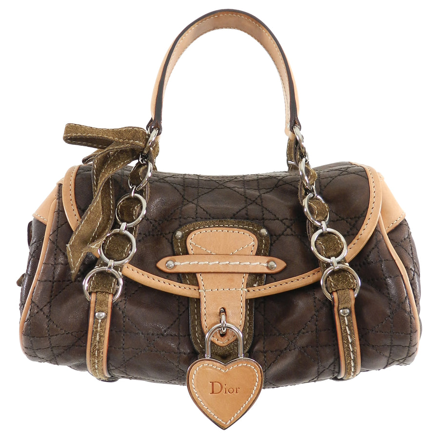 Christian Dior Brown Leather Romantique Small Bag