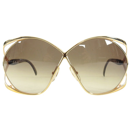 Christian Dior Vintage 1980's Oversized 2056 Butterfly Sunglasses