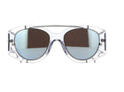Dior Experience Limited Edition Clear and Blue Mirror Sunglasses