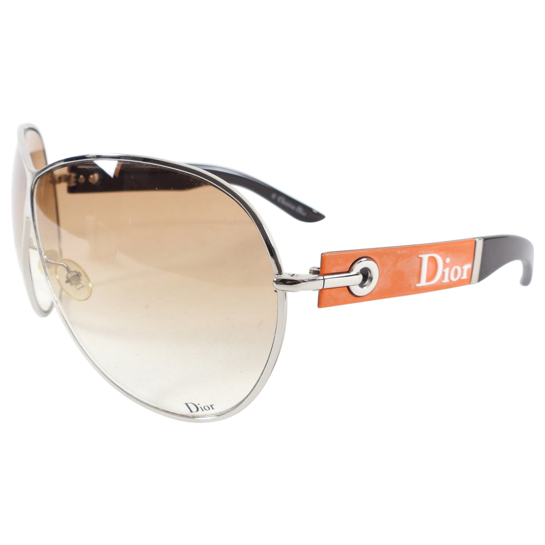 Dior Vintage Early 2000's Flight Aviator Wrap Sunglasses
