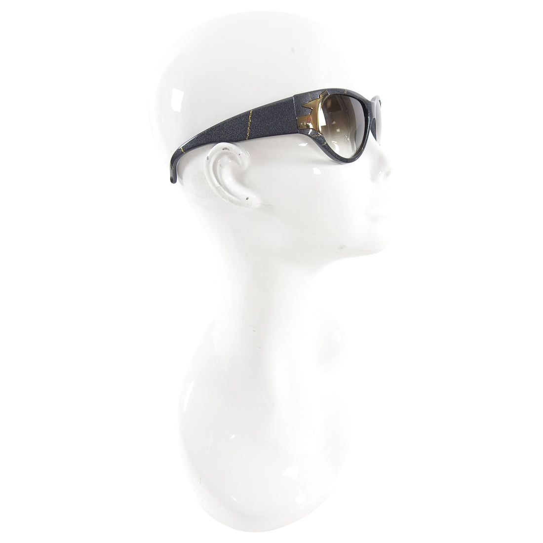 Christian Dior Vintage 1980's Grey and Gold Sunglasses 2346
