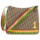 Christian Dior Monogram Canvas Trotteur Diorissimo Rasta Messenger Bag
