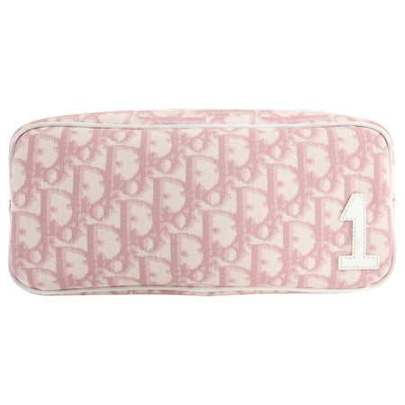 Christian Dior Pink Monogram Logo Small Pouch Bag