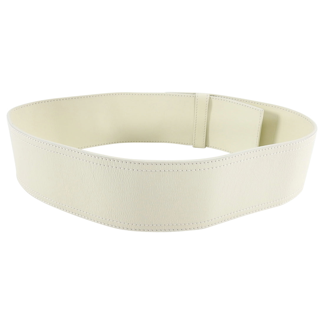 Dior Fall 2004 Ivory Wide Leather Waist Cincher Belt - 80