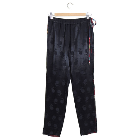 Dries van Noten Black Jacquard Satin Pajama Pant - FR36 / 2/4