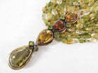 Eileen Coyne 22k Gold Tourmaline and Citrine Necklace and Earrings
