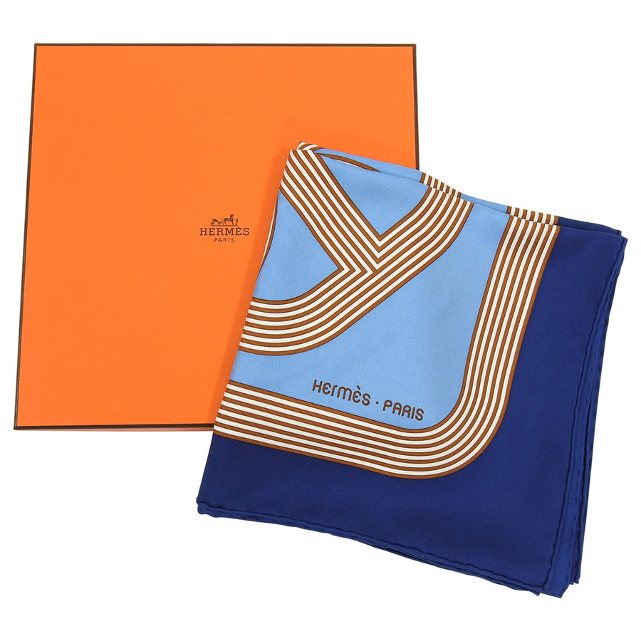Hermes Circuit 24 Faubourg Silk Twill 90cm Scarf in Box