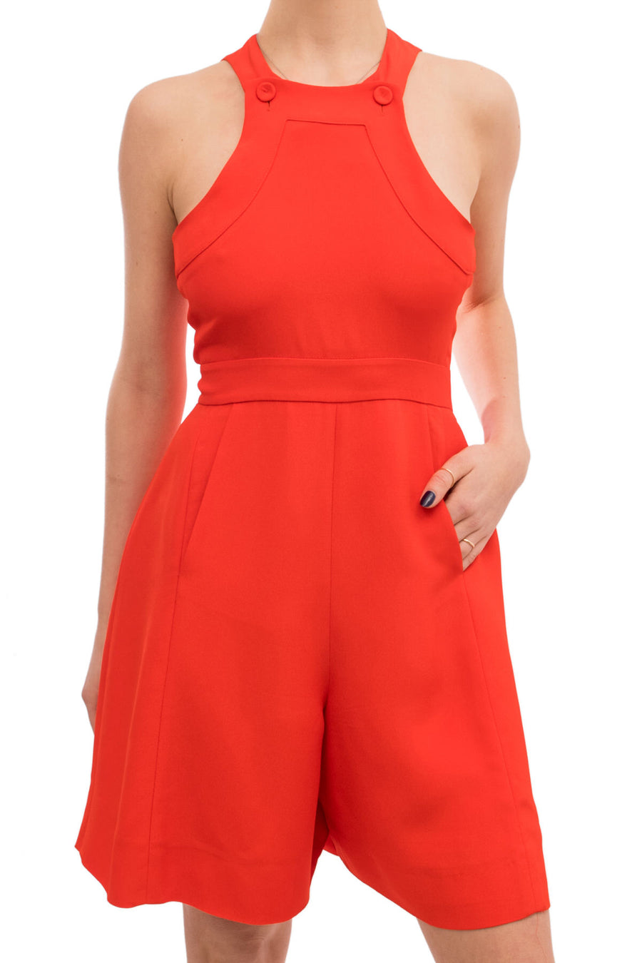 Fendi Orange Shorts Jumpsuit
