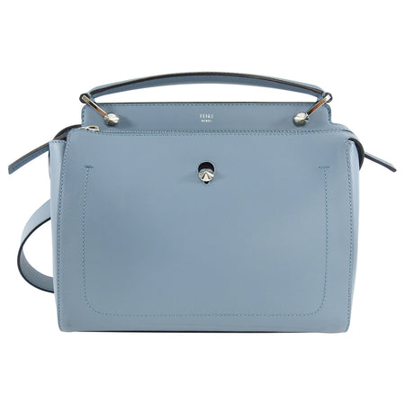Fendi Blue Leather Dotcom Runway Satchel Bag