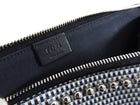 Fendi Karlito Karl Mink Fur Stud Zippered Pouch Bag