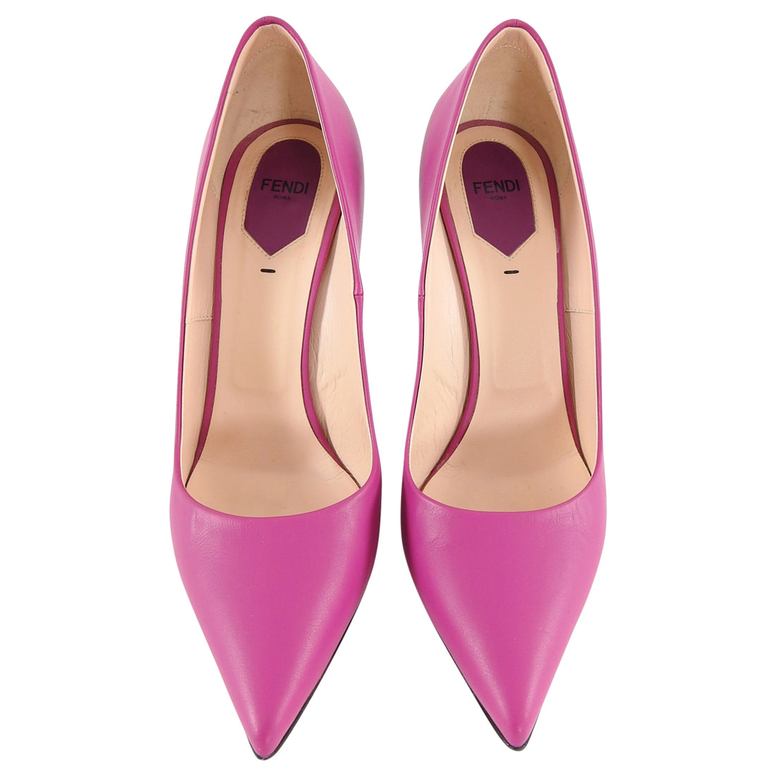 Fendi Magenta Anne Pumps with Slim Stiletto Heel - 41