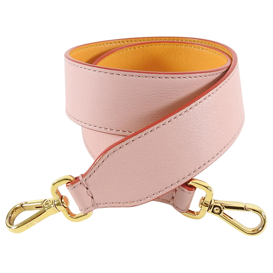 Fendi Pink and Mustard Yellow Strap You Bag Strap