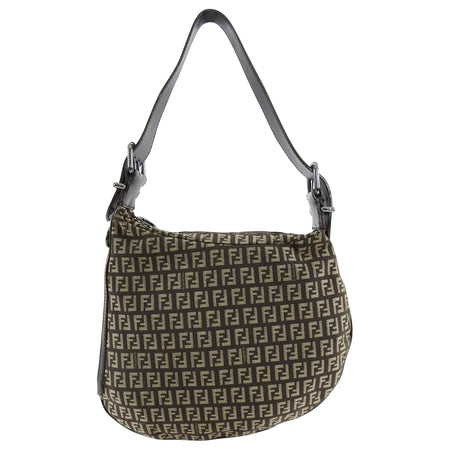 Fendi Zucca Vintage 2002 Brown Monogram Oyster Bag