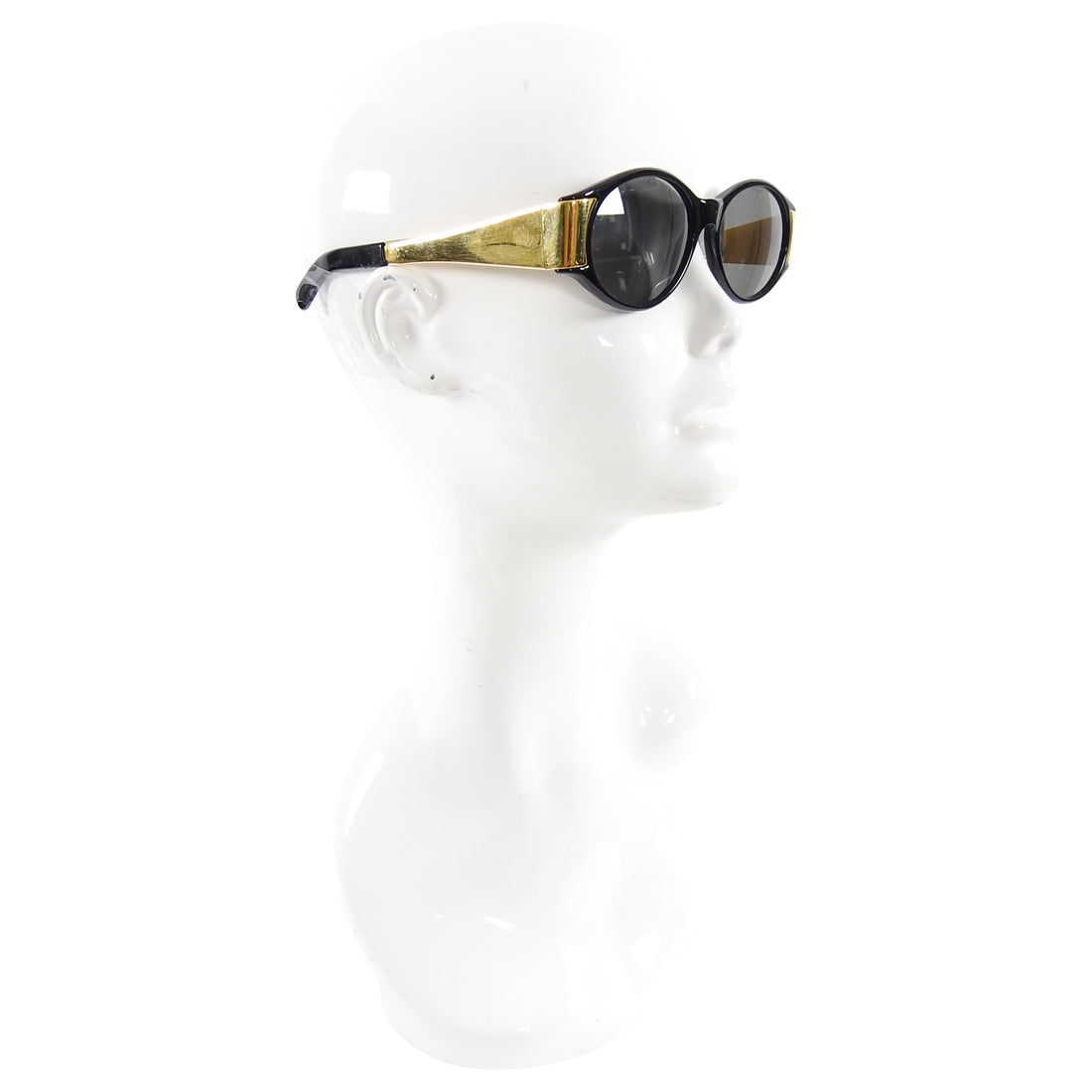 Gianfranco Ferre Vintage 1990's Black and Gold Sunglasses GFF141