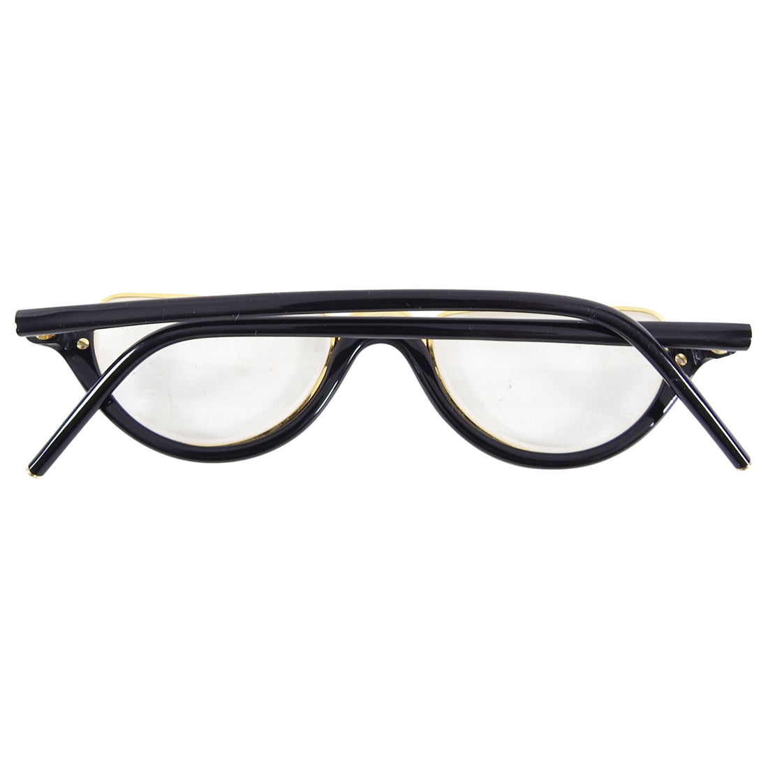 Gianfranco Ferre Vintage Black and Gold Prescription Reading Glasses