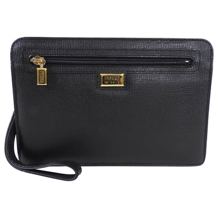 Gianfranco Ferre Vintage Black Wristlet Clutch Bag