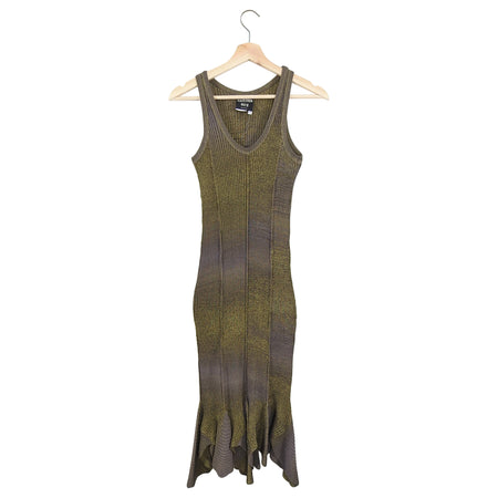 Jean Paul Gaultier Bronze Metallic Knit Tank Dress - M / 6/8