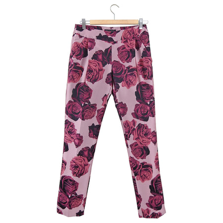 Giambattista Valli Pink Rose Jacquard Brocade Pants Trouser - FR36 / 4