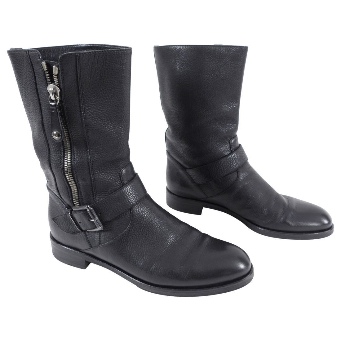 Gianvitto Rossi Black Leather Ankle Boots with Zip Detail - 38.5 / 8