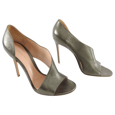 Gianvitto Rossi Bronze Patina 110mm High Heels - 40