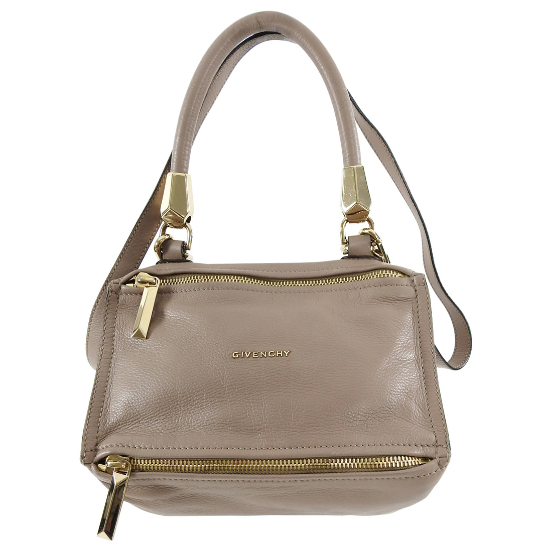 Givenchy Light Taupe / Beige Leather Small Pandora Bag