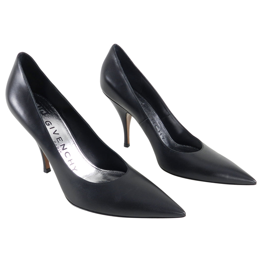 Givenchy Black Calfskin Classic Pumps - 38.5
