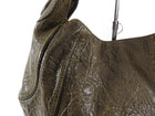 Givenchy Dark Olive Leather Eclipse Small Hobo Bag