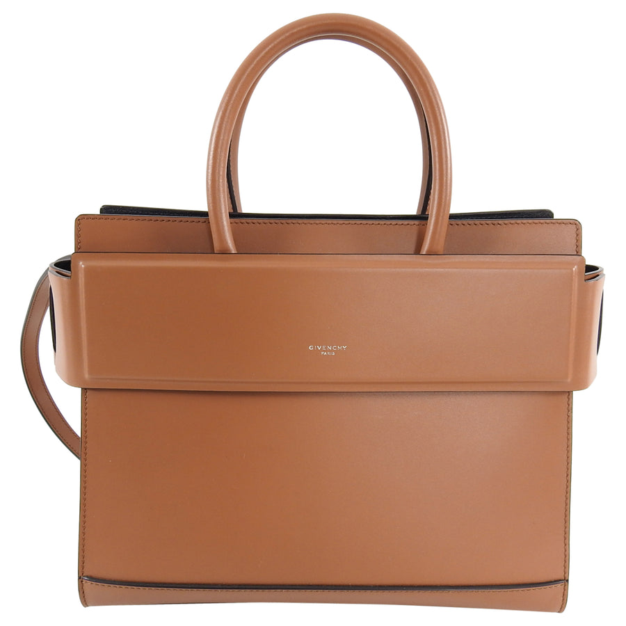Givenchy Brown Small Structured Horizon Shoulder Bag