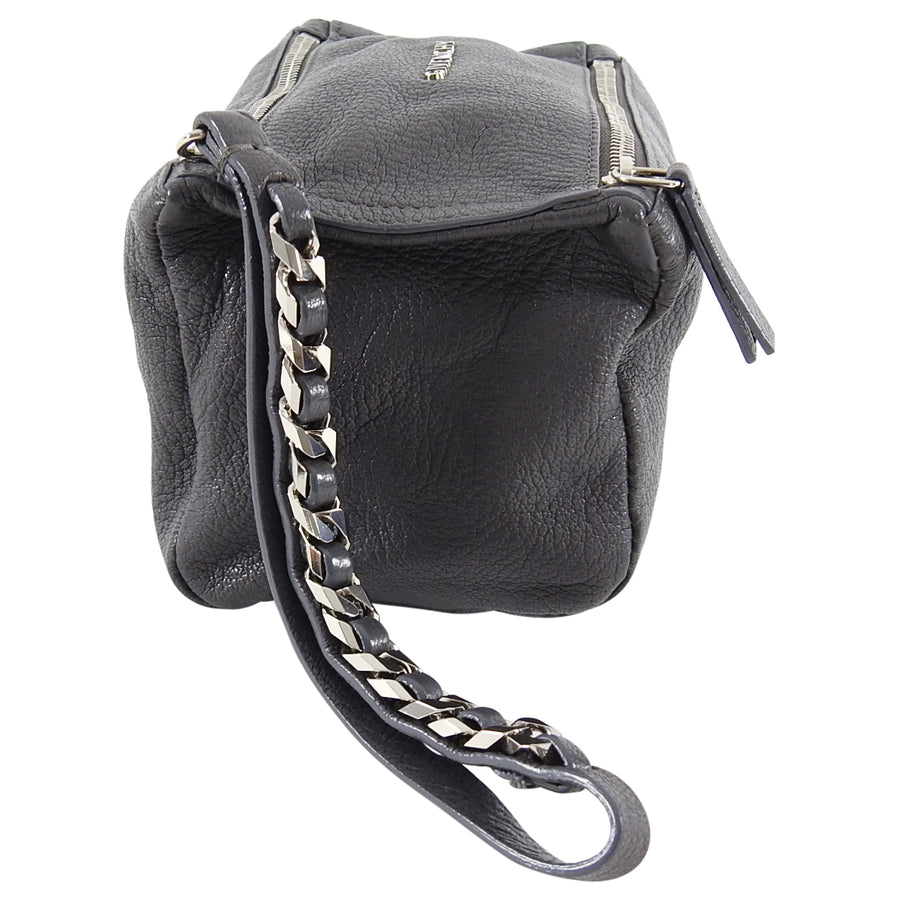 Givenchy Grey Mini Pandora Wristlet With Chain Strap