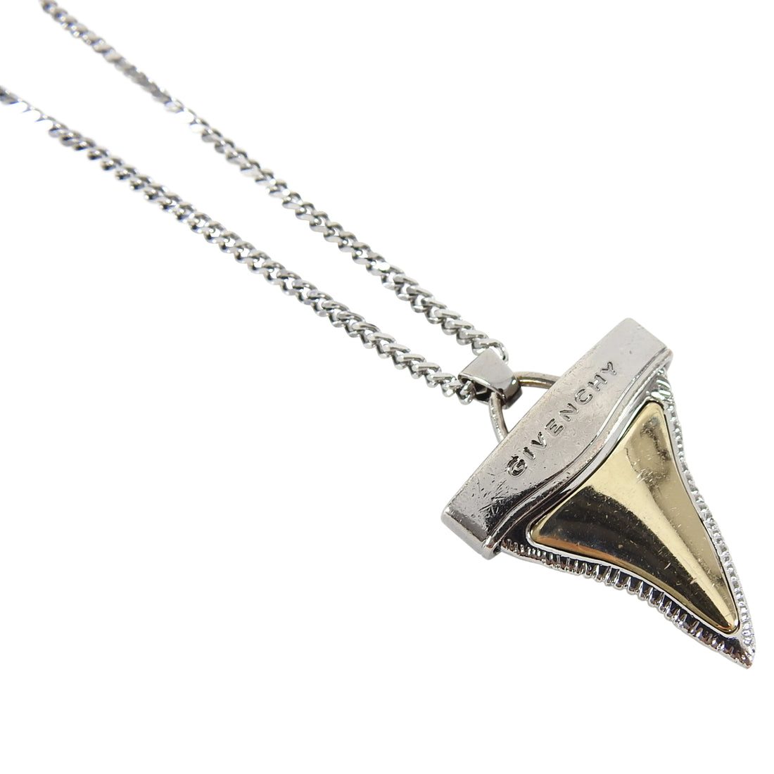 Givenchy Small Double Layered Shark Tooth Necklace