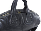 Givenchy Large Nightingale Black Leather Overnight Bag