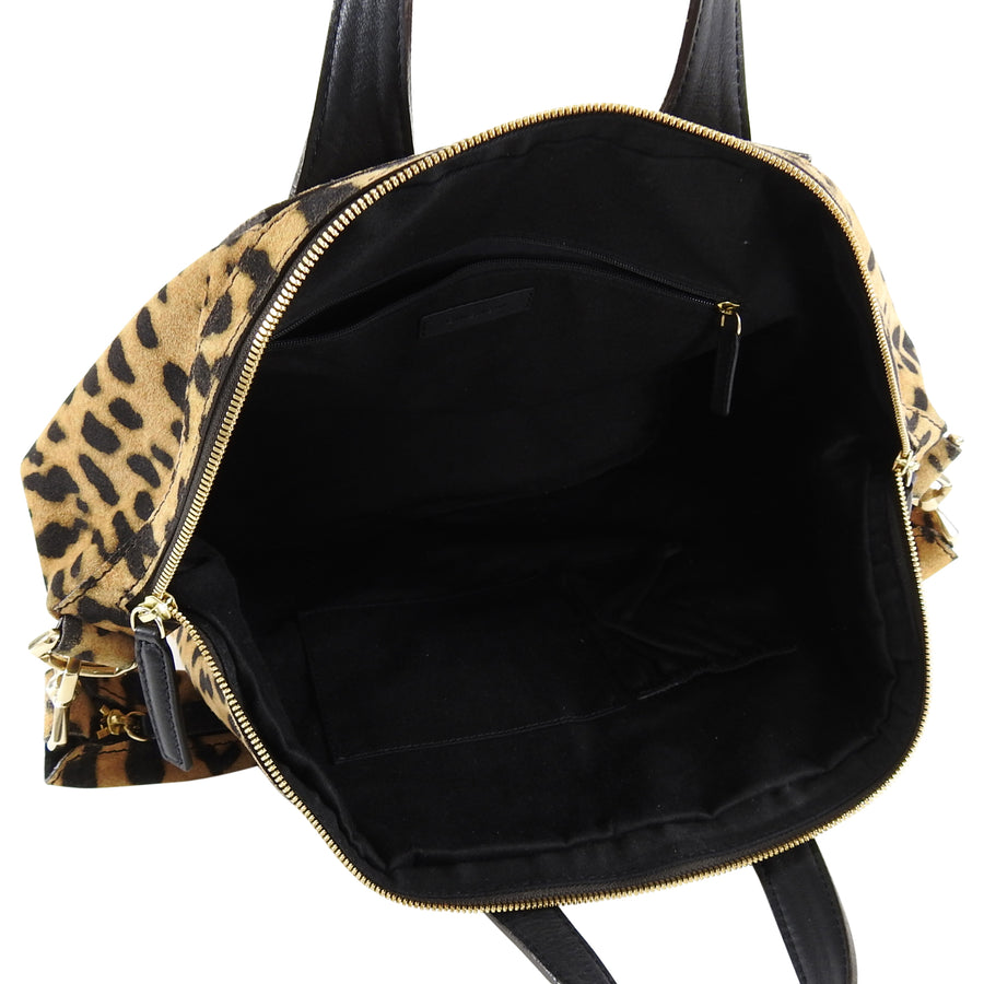 Givenchy Nightingale Leopard Suede Bag