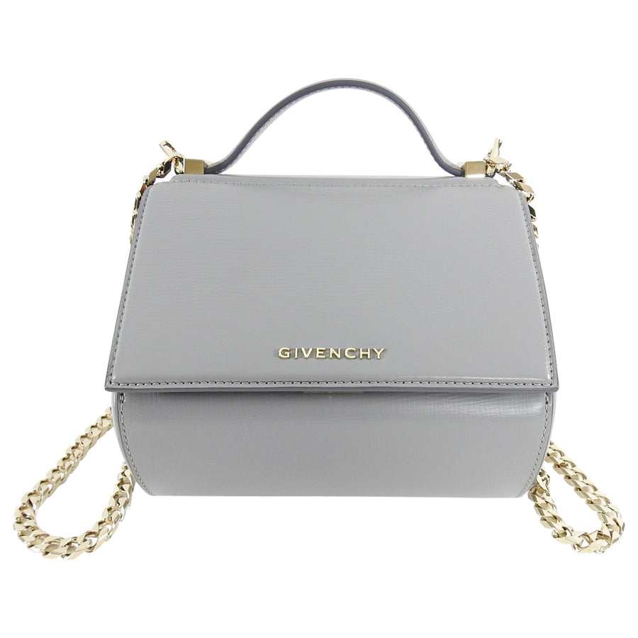 Givenchy Grey Mini Pandora Box Chain Crossbody Bag