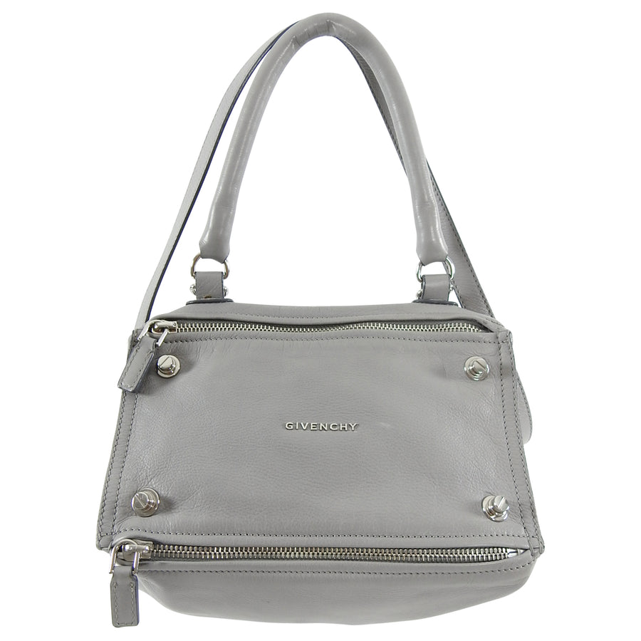Givenchy Small Pandora Light Grey Leather Bag