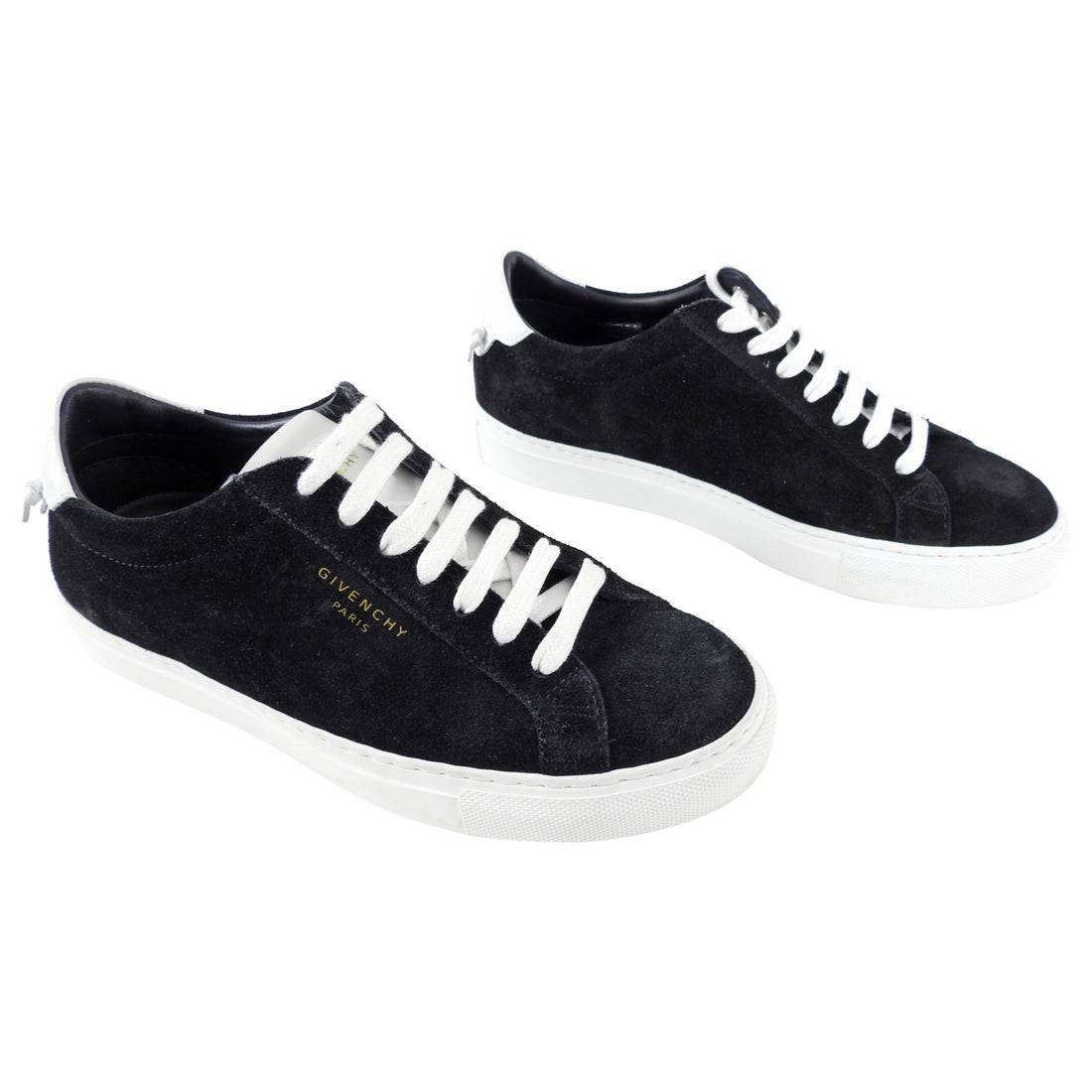 Givenchy Black Suede Urban Street Sneakers - 36