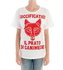 Gucci Guccification Il Prato di Ganimede Red Printed T Shirt