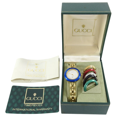 Gucci Vintage Ladies Link Watch with Interchangeable Bezels