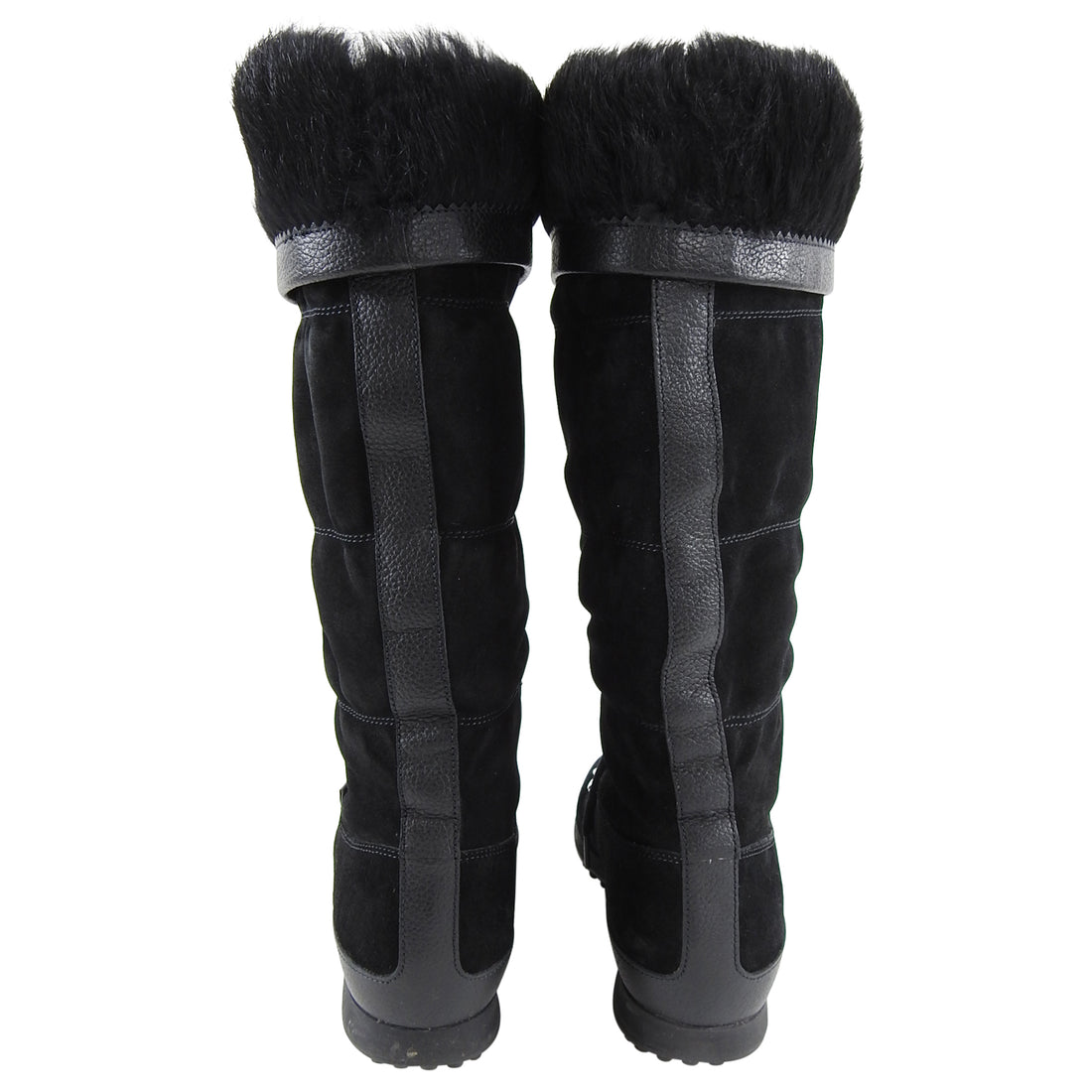 Gucci Black Suede Fur Lined Mountain Winter Boots - 6.5