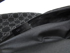 Gucci Black Suede Monogram Logo Shoulder Hobo Bag