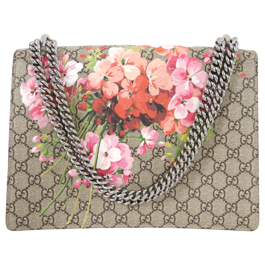 Gucci GG Blooms Dionysus Supreme Medium Pink and Red Bag