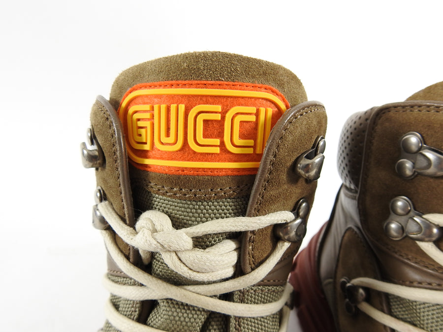 Gucci Flashtrek High Top 2019 Brown Track Sole Sneaker Boot - 9.5