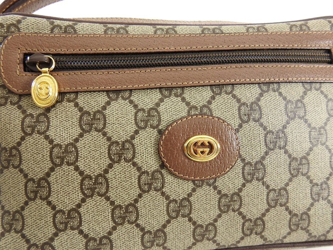 Gucci Vintage Monogram Clutch Wristlet Bag
