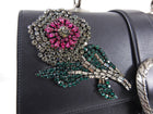 Gucci Large Crystal Flower Embellished Dionysus Bamboo Bag