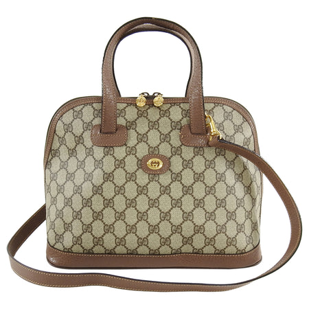 Gucci Vintage GG Supreme Monogram Domed Satchel Bag