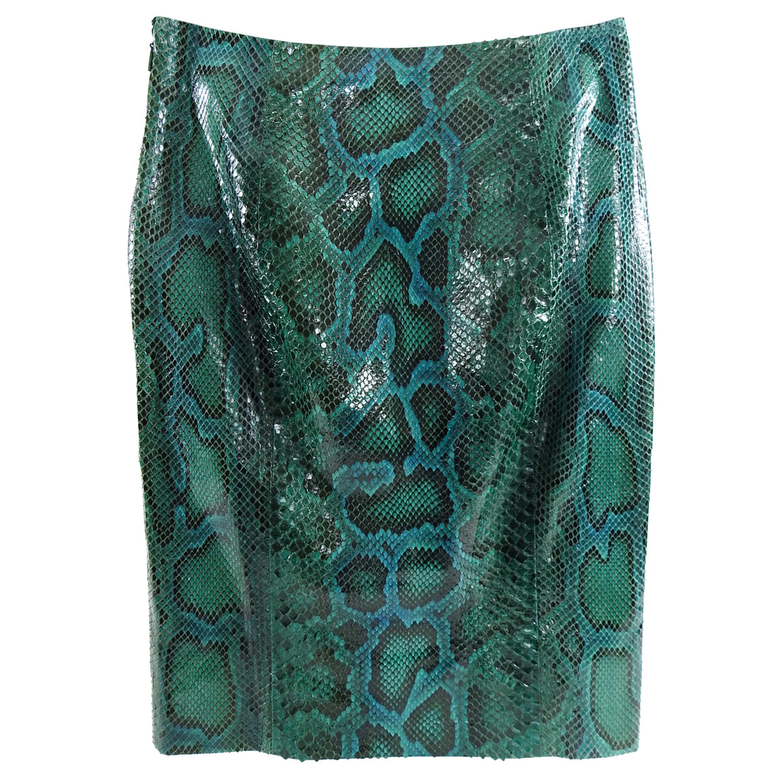 Gucci Fall 2011 Runway Green Python Snakeskin Pencil Skirt - 2